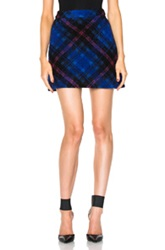 Victoria Victoria Beckham A Line Skirt In Blue Checkered And Plaid