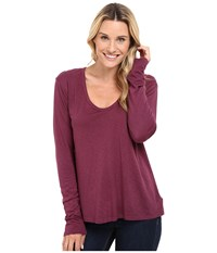 The Beginning Of Butina Long Sleeve Tee Plum Women's T Shirt Purple