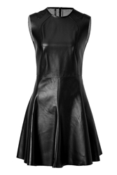 Neil Barrett Leather Fit And Flare Dress
