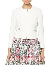 Ted Baker Halis Cropped Jacket Cream