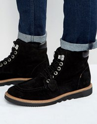 Kickers Kwamie Suede Lace Up Boots Black