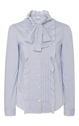Red Valentino Front Ruffle Blouse Light Blue
