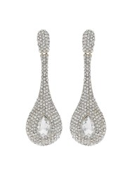 Mikey Long Stem Drop Crystal Studded Earring