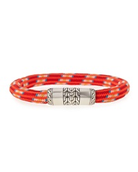Men's Classic Chain Multicolor Cord Bracelet Red John Hardy