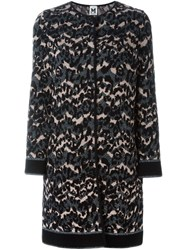 M Missoni Leopard Intarsia Coat Black