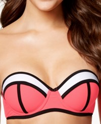 California Waves Colorblocked Underwire Push Up Bikini Top Women's Swimsuit