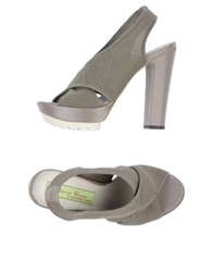 Materia Prima By Goffredo Fantini Platform Sandals Military Green