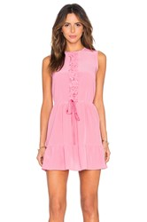 Red Valentino Ruffle Tank Dress Pink