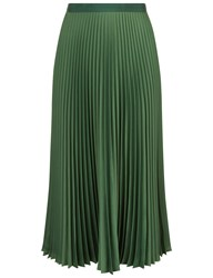Vanessa Bruno Green Satin Pleated Fasia Skirt