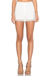 1. State Lace Overlay Short White
