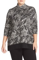 Nic Zoe 'Moonrise' Turtleneck Top Plus Size Black