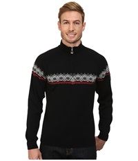 Dale Of Norway Calgary Masculine Black Raspberry Off White Men's Sweater