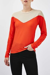 Boutique Illusion Long Sleeve Tee By Red