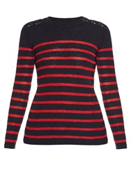 Etoile Isabel Marant Striped Cotton And Linen Blend Sweater
