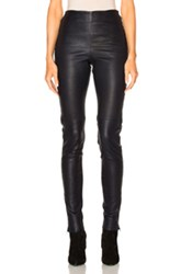 See By Chloe Skinny Leather Pants In Blue