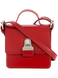 Maison Martin Margiela Mm6 Mini Satchel Bag Red