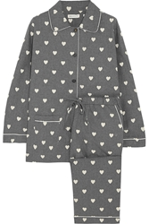Chinti And Parker Heart Print Cotton Voile Pajama Set