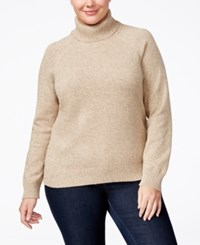 Karen Scott Plus Size Marled Turtleneck Sweater Only At Macy's Chestnut Marble