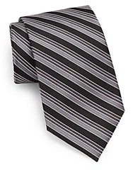 English Laundry Striped Silk Tie Black