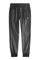 Mother Faux Leather Pants Black