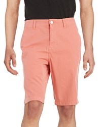 Calvin Klein Jeans Multi Stitched Cotton Shorts Spiced Coral