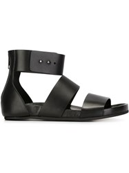 Common Projects Woman By Common Projects Wide Strap Flat Sandals Black