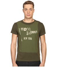 Marc Jacobs Slim Fit Classic Jersey Tee Army Melange