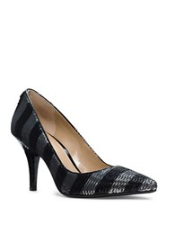 Michael Michael Kors Sequined Striped Pumps Black