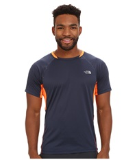 The North Face Better Than Naked Short Sleeve Shirt Cosmic Blue Shocking Orange Men's Short Sleeve Pullover