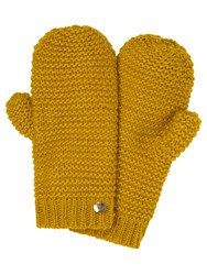 Yumi Knitted Mittens Green