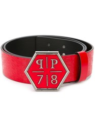 Philipp Plein 'Silent Hill' Belt Red