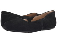 Softwalk Norwich Black Cow Suede Leather Women's Dress Flat Shoes