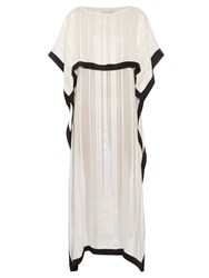 Zeus Dione Ammos Stripe Jacquard Silk Dress