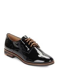 Karl Lagerfeld Iva Patent Leather Oxfords Black