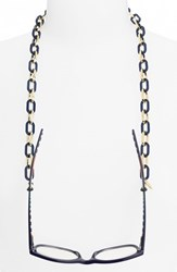 Women's L. Erickson 'Sarafine' Metal Link Eyewear Chain Navy