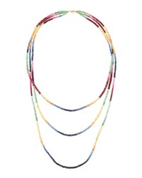 Lana Chroma Triple Strand Multicolored Sapphire Necklace