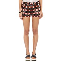 Fabric Hunted And Collected Women's Plaid Shorts Red