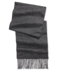 Club Room Men's Solid Cashmere Scarf Only At Macy's Charcoal