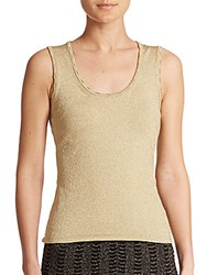 M Missoni Metallic Knit Tank Gold