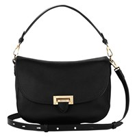 Aspinal Of London Letterbox Slouchy Saddle Bag Black