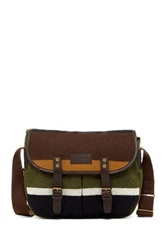 Barbour Striped Wool Tarras Classic Messenger Brown