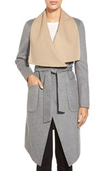 Women's Bcbgmaxazria Double Face Wool Blend Wrap Coat