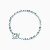 Tiffany And Co. Beads Toggle Bracelet In Sterling Silver Medium. No Gemstone