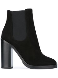 Dolce And Gabbana Chunky Heel Ankle Boots Black
