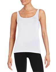 Lord And Taylor Petite Iconic Fit Tank Top White