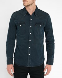 Levi's Blue Black Western Denim Shirt