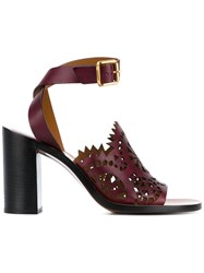 Chloe 'Kelby' Sandals Pink And Purple