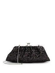 Saks Fifth Avenue Riley Sequined Convertible Clutch Black