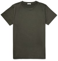 Margaret Howell Howe Mainine Egyptian Cotton Jersey T Shirt Army Green