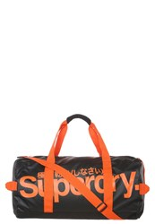 Superdry Sports Bag Black Hazard Orange